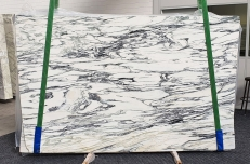 Supply polished slabs 0.8 cm in natural marble FANTASTICO ARNI 1190. Detail image pictures