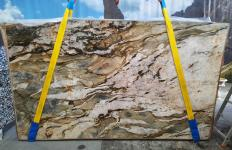 Supply polished slabs 0.8 cm in natural quartzite FUSION MISTIC A0113. Detail image pictures