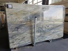 Supply polished slabs 0.8 cm in natural marble FUSION A0100. Detail image pictures