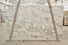 Supply polished slabs 1.2 cm in natural granite GALAXY WHITE 01099. Detail image pictures