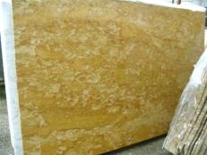Supply polished slabs 0.8 cm in natural marble GIALLO REALE SRC25132. Detail image pictures