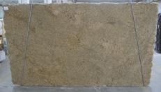 Supply polished slabs 1.2 cm in natural granite GIALLO VENEZIANO C-16777. Detail image pictures