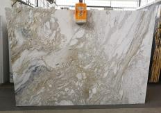Supply polished slabs 0.8 cm in natural marble GOLDEN CALACATTA U0403A. Detail image pictures