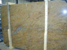 Supply polished slabs 0.8 cm in natural granite GOLDEN OAK CV1_GOOA25. Detail image pictures