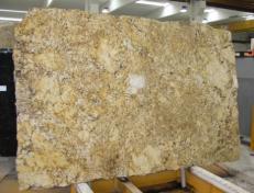 Supply polished slabs 0.8 cm in natural granite GOLDEN PERSA CV16243. Detail image pictures