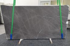 Supply honed slabs 0.8 cm in natural marble GRAFFITE 1325. Detail image pictures