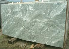 Supply polished slabs 0.8 cm in natural marble GREEN ANTIGUA E_S329. Detail image pictures