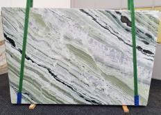 Supply polished slabs 0.8 cm in natural marble GREEN BEAUTY 1452. Detail image pictures