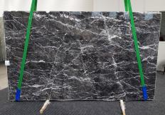 Supply polished slabs 0.8 cm in natural marble GRIGIO CARNICO 1195. Detail image pictures