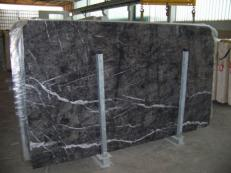 Supply polished slabs 0.8 cm in natural marble GRIGIO CARNICO SR_231209GC. Detail image pictures