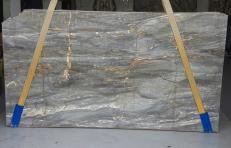 Supply polished slabs 0.8 cm in natural marble Grigio Siena U0110. Detail image pictures