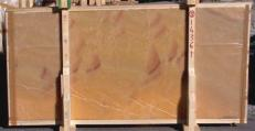 Supply polished slabs 0.8 cm in natural onyx HONEY ONYX 14361_L5. Detail image pictures