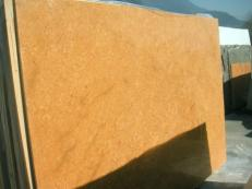 Supply polished slabs 0.8 cm in natural marble INCA GOLD EM_0391. Detail image pictures