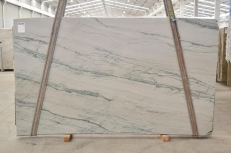 Supply polished slabs 0.8 cm in natural quartzite INFINITY GREY 2390. Detail image pictures