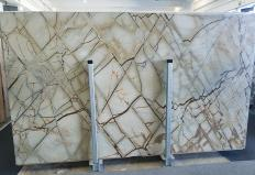 Supply polished slabs 0.8 cm in natural quartzite ISOLA BLUE Z0018. Detail image pictures