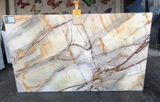 Supply polished slabs 0.8 cm in natural quartzite ISOLA BLUE AA U0112. Detail image pictures