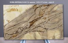Supply polished slabs 0.8 cm in natural quartzite ISOLA BLUE U0112. Detail image pictures