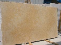 Supply honed slabs 1.2 cm in natural limestone JERUSALEM GOLD DARK JS3632 J_07064. Detail image pictures