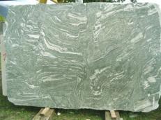 Supply polished slabs 0.8 cm in natural granite KUPPAM GREEN EDM25113. Detail image pictures