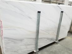Supply polished slabs 0.8 cm in natural Dolomite LASA BIANCO VENA ORO 1669M. Detail image pictures