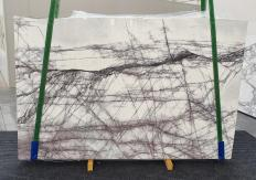 Supply polished slabs 0.8 cm in natural marble LILAC 1260. Detail image pictures