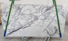 Supply polished slabs 0.8 cm in natural marble LILAC 1205. Detail image pictures