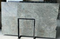 Supply polished slabs 0.8 cm in natural granite LT GREEN D2109. Detail image pictures