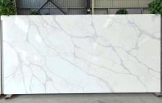 Supply polished slabs 0.8 cm in artificial aglo quartz LUCCA V7010. Detail image pictures