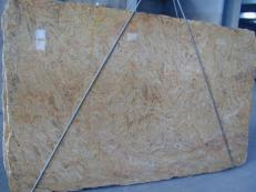 Supply polished slabs 0.8 cm in natural granite MADURAI GOLD X. Detail image pictures