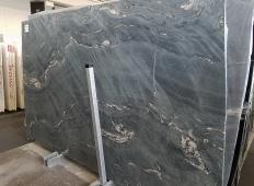 Supply brushed slabs 0.8 cm in natural granite MALAKITE Z0026. Detail image pictures