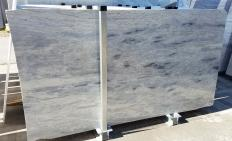 Supply polished slabs 0.8 cm in natural marble Manhattan Grey Z0586. Detail image pictures