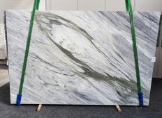 Supply polished slabs 0.8 cm in natural marble Manhattan Grey 1357. Detail image pictures
