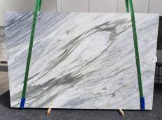 Supply honed slabs 0.8 cm in natural marble MANHATTAN GREY 1357. Detail image pictures