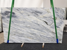 Supply polished slabs 1.2 cm in natural marble Manhattan Grey 1207. Detail image pictures