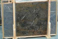 Supply polished slabs 0.8 cm in natural marble MARRON FOSSIL E-13656. Detail image pictures