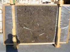 Supply polished slabs 0.8 cm in natural marble MARRON FOSSIL edi222mf. Detail image pictures