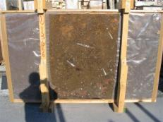 Supply polished slabs 0.8 cm in natural marble MARRON FOSSIL edi222mfxx. Detail image pictures