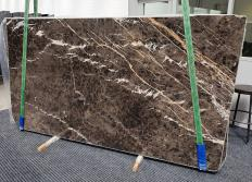 Supply polished slabs 0.8 cm in natural marble MARRON IRIS 1404. Detail image pictures