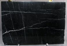 Supply polished slabs 0.8 cm in natural marble NERO MARQUINA 1133M. Detail image pictures