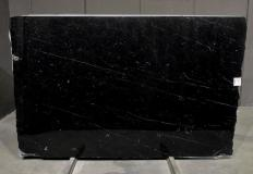Supply polished slabs 0.8 cm in natural marble NERO MARQUINA 1758M. Detail image pictures