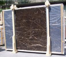 Supply polished slabs 0.8 cm in natural marble NOIR SAINT LAURENT E-NSL14745. Detail image pictures