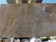 Supply polished slabs 0.8 cm in natural marble NOISETTE FLEURY E_US331. Detail image pictures