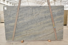 Supply polished slabs 3 cm in natural quartzite OCEAN BLUE 2382. Detail image pictures