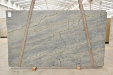 Supply polished slabs 1.18 cm in natural quartzite OCEAN BLUE 2382. Detail image pictures