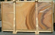 Supply polished slabs 2 cm in natural onyx ONICE ARCOIRIS E-14216/B. Detail image pictures