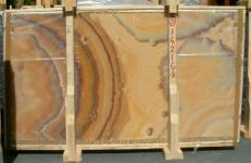 Supply polished slabs 0.8 cm in natural onyx ONICE ARCOIRIS E-14216/B. Detail image pictures
