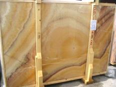 Supply polished slabs 0.8 cm in natural onyx ONICE ARCOIRIS EDM25109. Detail image pictures