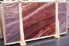 Supply honed slabs 0.8 cm in natural onyx ONICE PASSION E-14536. Detail image pictures