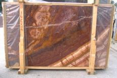 Supply honed slabs 0.8 cm in natural onyx ONICE PASSION E_H367. Detail image pictures