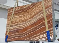 Supply polished slabs 0.8 cm in natural onyx ONICE PASSION U0283. Detail image pictures
